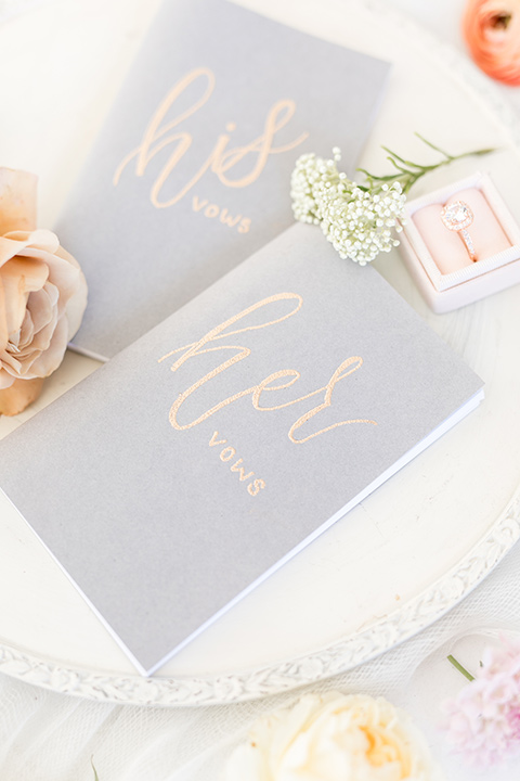 light blue wedding invitations with a small floral design