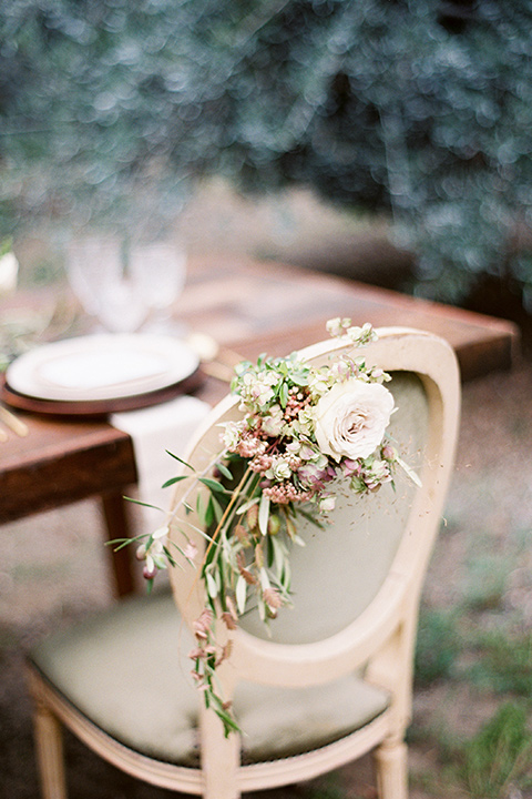 wooden vintage chair with a farmhouse table and neutral color decor