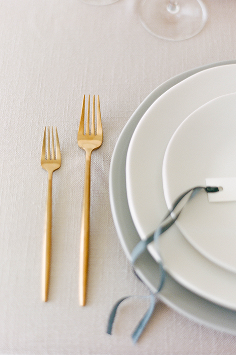 modern silver and gold flatware