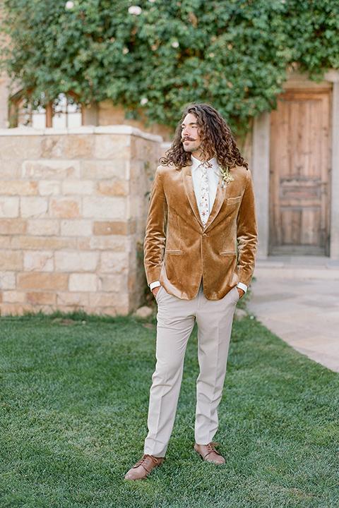 gold velvet tuxedo